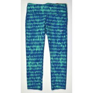 Womens Run Tight Fit DRI-Fit Capris Green Blue NWT